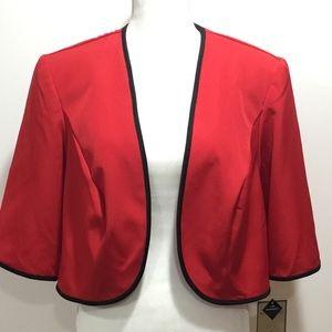 Maya Brooke Red & Black Short Jacket Size 18W